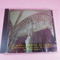 CDs de Música: CD.LA MÚSICA MEDIEVAL EN GALICIA-DIRECTOR CARLOS VILLANUEVA-GºUº DE CÁMARA DE COMPOSTELA-1988-EXCELE. Lote 294107863