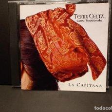 CDs de Música: TERRA CELTA GAITAS TRADICIONALES LA CAPITANA CD 2007 HECHO EN MEXICO PEPETO. Lote 294112988