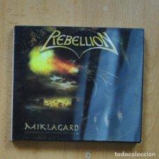 CDs de Música: REBELLION - MIKLAGARD - CD. Lote 294137708