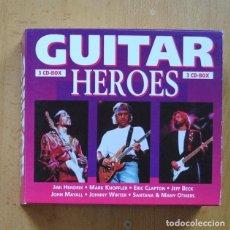CDs de Música: VARIOS - GUITAR HEROES - 3 CD. Lote 294137783