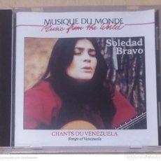 CDs de Música: SOLEDAD BRAVO (CHANTS DU VENEZUELA - SONGS OF VENEZUELA) CD FRANCIA. Lote 294467643