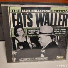 CDs de Música: CD FATS WALLER : THE JAZZ COLLECTORS EDITION. Lote 294552863