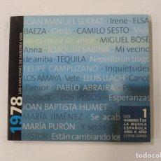 CDs de Música: LAS CANCIONES DE NUESTRA VIDA - AÑO 1978 - CD. TDKCD134. Lote 294943868