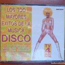 CDs de Música: LOS 100 MAYORES EXITOS DE LA MUSICA DISCO / 4CD / ARCADE / CD. Lote 295002203