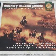 CDs de Música: CD COUNTRY MASTERPIECES. Lote 295002893