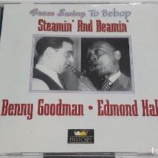 CDs de Música: 2 CD BENNY GOODMAN/EDMOND HALL - STEAMIN 'AND BEAMIN'. Lote 295005138