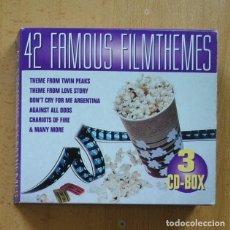 CDs de Música: VARIOS - 42 FAMOUS FILM THEMES - 3 CD. Lote 295013428