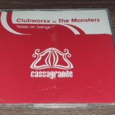 CDs de Música: CLUBWORKXX VS THE MONSTERZ - KEEP ON SWINGIN ( CD SINGLE 4 REMIXES ) CASSAGRABDE RECORDS. Lote 295023868
