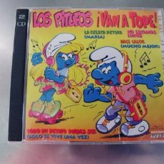 CDs de Música: LOS PITUFOS VAN A TOPE-CD DOBLE. Lote 295047278