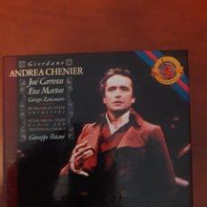 CDs de Música: GIORDANO: ANDREA CHENIER (2 CD). CARRERAS, MARTON, ZANCANARO (CBS). Lote 295352988