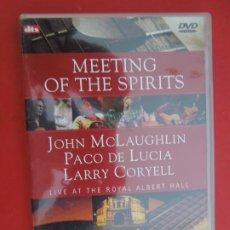 CDs de Música: PACO DE LUCIA , JOHN MCLAUGHLIN , LARRY CORYELL , MEETIN OF THE SPIRITS -DVD. Lote 295355258