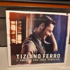 CDs de Música: CD TIZIANO FERRO : L´AMORE E UNA COSA SEMPLICE. Lote 295356363