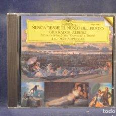 CDs de Música: GRANADOS / ALBENIZ, JOSE MARIA PIZOLAS - MUSICA DESDE EL MUSEO DEL PRADO - CD. Lote 295421703