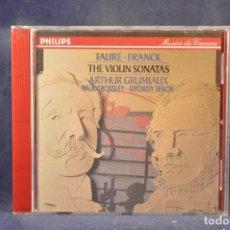 CDs de Música: FAURÉ / FRANCK, ARTHUR GRUMIAUX, PAUL CROSSLEY, GYÖRGY SEBÖK - THE VIOLIN SONATAS - CD. Lote 295423503