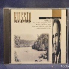 CDs de Música: FRANK - SVIATOSLAV RICHTER - LES DJINNS, SYMPHONIC POEM / PRÉLUDE, CHORALE ET FUGUE, OISTRAKH - CD. Lote 295425093