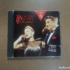 CDs de Música: PALOMA SAN BASILIO Y PLÁCIDO DOMINGO - POR FIN JUNTOS - CD. Lote 295495643