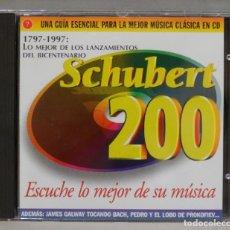CDs de Música: CD. SCHUBERT. 200. BICENTENARIO. Lote 295516423