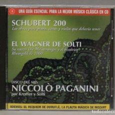 CDs de Música: CD. SCHUBERT 200. EL WAGNER DE SOLTI. NICCOLO PAGANINI. Lote 295518463