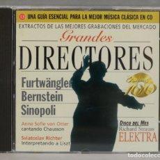 CDs de Música: CD. GRANDES DIRECTORES. FURTWANGLER. BERNSTEIN. SINOPOLI. Lote 295520158
