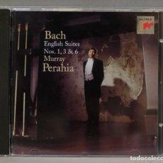 CDs de Música: CD. BACH. MURRAY PERAHIA . ENGLISH SUITES NOS. 1, 3 & 6. Lote 295521868
