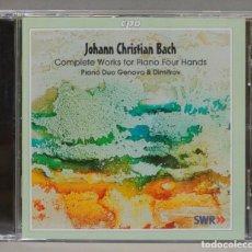 CDs de Música: CD. COMPLETE WORKS FOR PIANO FOUR HANDS. BACH. PIANO DUO GENOVA & DIMITROV. Lote 295522113