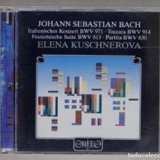 CDs de Música: CD. BACH. ELENA KUSCHNEROVA . ITALIAN CONCERTO. FRENCH SUITE. PARTITA. TOCCATA. Lote 295522798