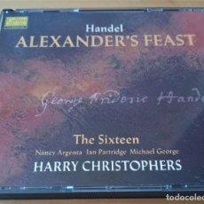 CDs de Música: HANDEL ALEXANDER'S FEAST THE SIXTEEN HARRY CHRISTOPHERS. Lote 295528288