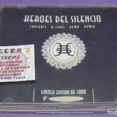 CDs de Música: HÉROES DEL SILENCIO - CONCERTS B SIDES DEMO REMIX - CD LIMITED EDITION Nº 053 OF 1000. Lote 295618108
