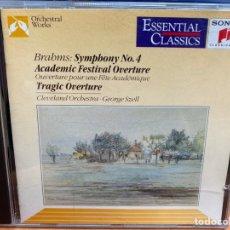 CDs de Música: BRAHMS - CLEVELAND ORCHESTRA • GEORGE SZELL - SYMPHONY NO. 4 (CD, ALBUM). Lote 295639398