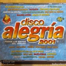CDs de Música: DISCO ALEGRIA - 4 CD'S 2001 (CELEDA, JOE LUCIANO, RUBBY PEREZ, KING ALEGRIA, CACAO...). Lote 295640413