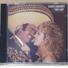 CDs de Música: VICENTE FERNANDEZ Y VIKKI CARR (DOS CORAZONES) CD. Lote 295642413