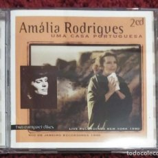 CDs de Música: AMALIA RODRIGUES (UMA CASA PORTUGUESA) 2 CD'S 1998 PORTUGAL - FADO. Lote 295642543