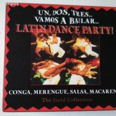 CDs de Música: LATIN DANCE PARTY, CONGA,MERENGUE,SALSA,MACARENA, THE GOLD COLLECTION,2 CDS. Lote 295682308