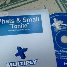CDs de Música: CD-SINGLE ( PROMOCION) DE PHATS & SMALL. Lote 295823503