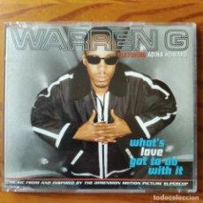 CDs de Música: WARREN G FEAT. ADINA HOWARD- WHAT'S LOVE GOT TO DO WITH IT + 2 VERSIONES- CD SINGLE SUPERCOP FILM.. Lote 295830403