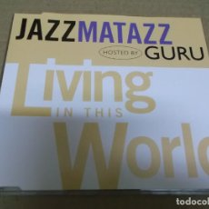 CDs de Música: JAZZMATAZZ HOSTED BY GURU (CD/SN) LIVING IN THIS WORLD AÑO – 1995 - PROMOCIONAL. Lote 295845238