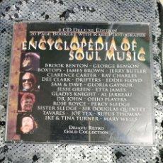 CDs de Música: CD DOBLE ENCICLOPEDIA OF SOULL MUSIC. Lote 295879858