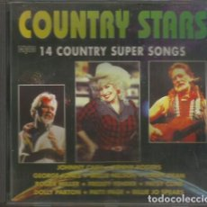 """CDs de Música: CD, """"COUNTRY STARS"""", 14 COUNTRY SUPER SONGS. Lote 295914603"""