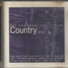 """CDs de Música: CD, """"COUNTRY VOL 1"""", THE UNIVERSAL COLLECTION. Lote 295914923"""