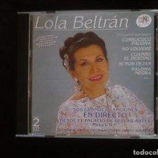 CDs de Música: LOLA BELTRAN - EN DIRECTO DESDE EL PALACIO DE BELLAS ARTES DE MEXICO D.F. 2 CD COMO NUEVOS RAMA LAMA. Lote 295994388