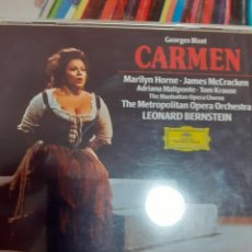 CDs de Música: BIZET: CARMEN (3 CD) DEUTSCHE GRAMMOPHON: HORNE, MCCKRAKEN, BERNSTEIN. Lote 295994538