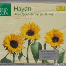 CDs de Música: 3 CD. HAYDN. AMADEUS QUARTET. STRING QUARTETS OPP. 76. 77. 103. Lote 296015938
