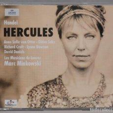 CDs de Música: 3 CD. HANDEL. MARC MINKOWSKI. LES MUSICIENS DU LOUVRE. HERCULES. Lote 296016403