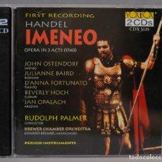 CDs de Música: 2 CD. HANDEL. IMENEO. PALMER. Lote 296016548