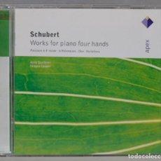 CDs de Música: CD. ANNE QUEFFÉLEC. IMOGEN COOPER. SCHUBERT. WORKS FOR PIANO FOUR HANDS. Lote 296016658