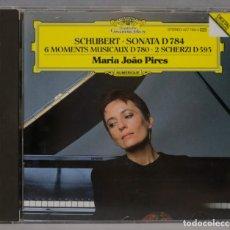 CDs de Música: CD. PIRES. PIANO SONATA D 784. 6 MOMENTS MUSICAUX D 780. 2 SCHERZI D 593. SCHUBERT. Lote 296016898