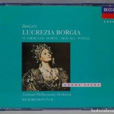 CDs de Música: 2 CD. BONYNGE. LUCREZIA BORGIA. DONIZETTI. Lote 296017168