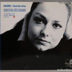 CDs de Música: CD. HAENDEL. DOROTHEA RÖSCHMANN. AKADEMIE FÜR ALTE MUSIK BERLIN. DEUTSCHE ARIEN. Lote 296017618