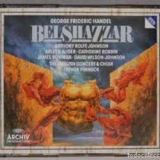 CDs de Música: 3 CD. HANDEL. BELSHAZZAR. JOHNSON. Lote 296018538