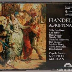 CDs de Música: 3 CD. MCGEGAN. AGRIPPINA. HANDEL. Lote 296018868